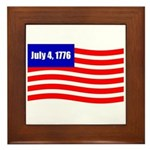 July 4 1776 Framed Tile