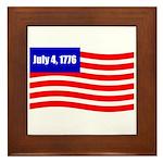 July 4 1776 Framed Tile