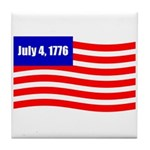 July 4 1776 Tile Coaster