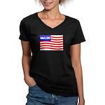 July 4 1776 Women's V-Neck Dark T-Shirt