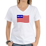 July 4 1776 Women's V-Neck T-Shirt