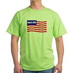 July 4 1776 Green T-Shirt
