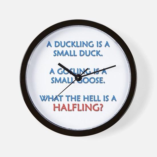 Halfling Lings Wall Clock