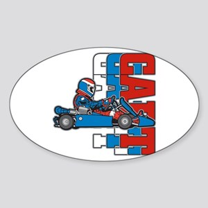 Ultimate Go Cart Oval Sticker