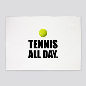 Tennis All Day 5'x7'Area Rug