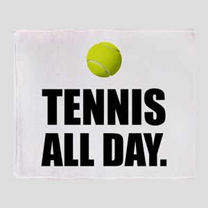Tennis All Day Throw Blanket