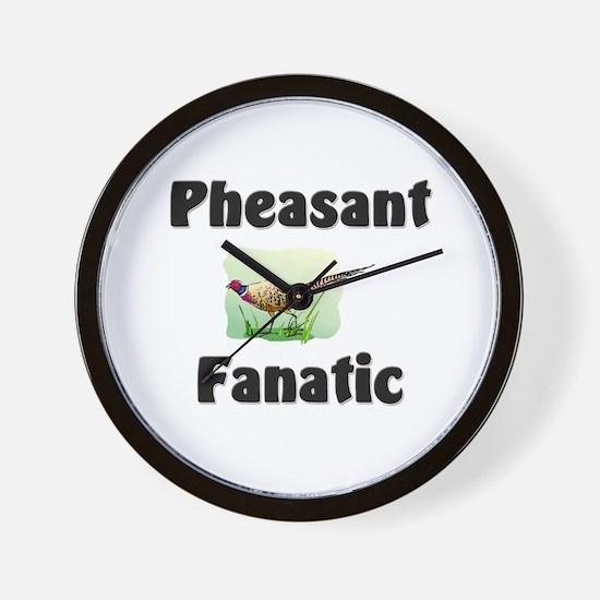 Pheasant Fanatic Wall Clock