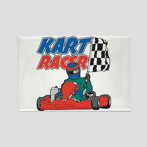Kart Racer Rectangle Magnet