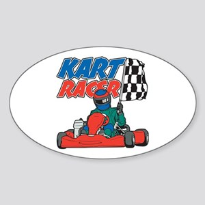 Kart Racer Sticker (Oval)
