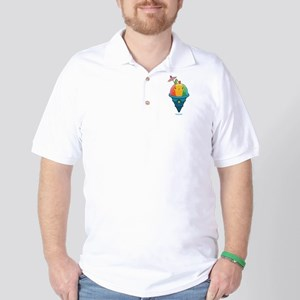 Kawaii Rainbow Shaved Ice Golf Shirt
