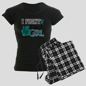 Fight Like A Girl Ovarian Cancer 15.2 Pajamas