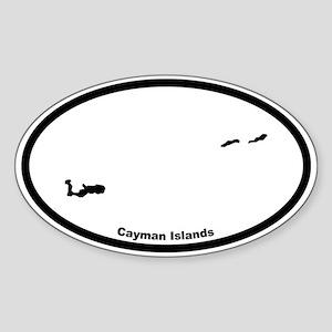 Cayman Islands Outline Oval Sticker
