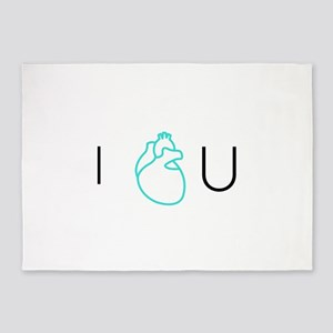 I Love You by Kalon Vogue - 5'x7'Area Rug