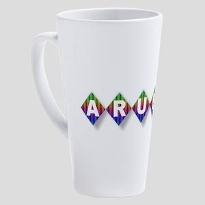 Aruba Rainbow Diamonds 17 oz Latte Mug