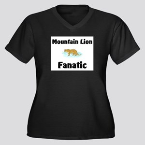 Mountain Lion Fanatic Women's Plus Size V-Neck Dar