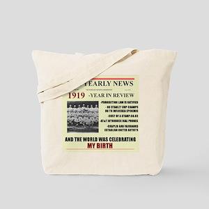 born in 1919 birthday gift Tote Bag