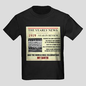 Born In 1919 Birthday Gift Kids Dark T Shirt
