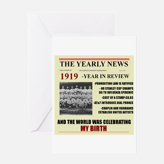 born in 1919 birthday gift Greeting Card