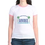 Sanibel Happy Place - Jr. Ringer T-Shirt