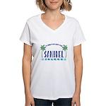 Sanibel Happy Place - Women's V-Neck T-Shirt