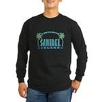 Sanibel Happy Place - Long Sleeve Dark T-Shirt