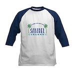 Sanibel Happy Place - Kids Baseball Jersey