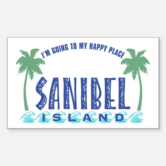 Sanibel Happy Place - Rectangle Bumper Stickers