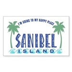 Sanibel Happy Place - Rectangle Sticker