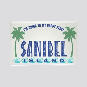 Sanibel Happy Place - Rectangle Magnet
