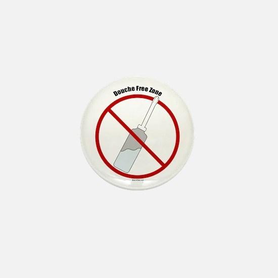 Douche Free Zone Mini Button