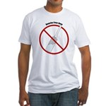 Douche Free Zone Fitted T-Shirt