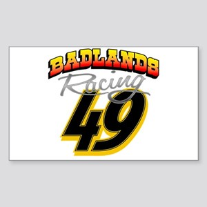 Badlands Racing Rectangle Sticker
