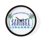 Sanibel Happy Place - Wall Clock