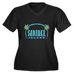 Sanibel Happy Place - Women's Plus Size V-Neck Dar