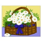 Daisy Basket Small Poster