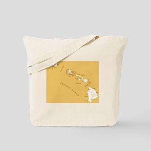 Hawaiian ocean map Tote Bag