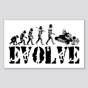 Go-Kart Evolution Rectangle Sticker