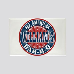 William's All American BBQ Rectangle Magnet