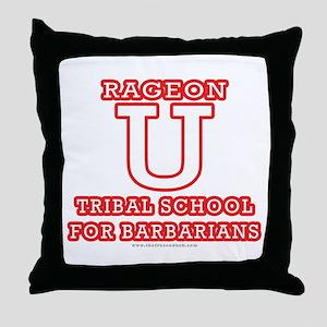 Rageon University Throw Pillow