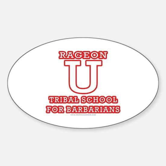 Rageon University Oval Decal