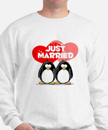 Just Married Penguins Sweatshirt