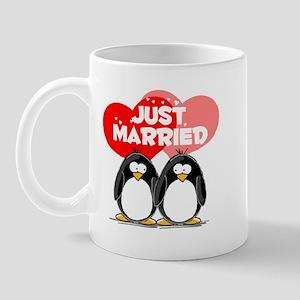 Just Married Penguins Mug