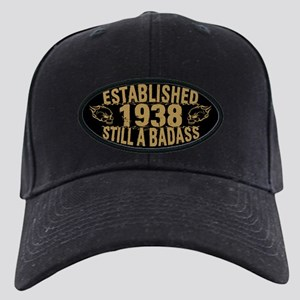 Established 1938 Badass Black Cap with Patch