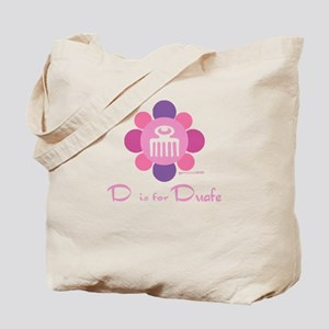 D is for Duafe Tote Bag