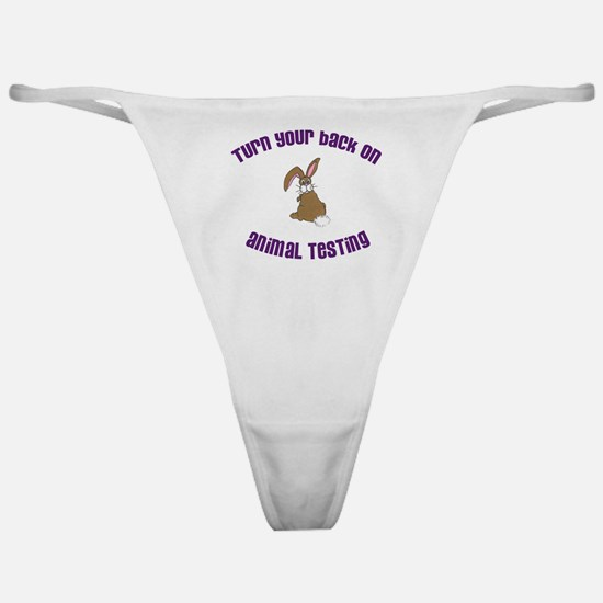 Rabbit turn yr back (ASPCA) Classic Thong