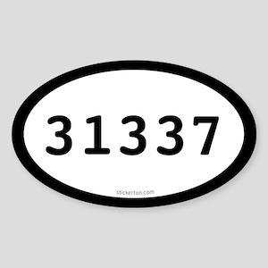 31337 Eleet Oval Sticker