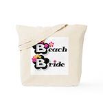 Black & White Beach Bride Tote Bag