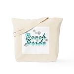 Beach Bride Flower Burst Tote Bag