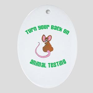 Rat turn yr back (ASPCA) Oval Ornament