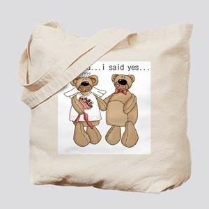 Bride and Groom Bear Tote Bag
